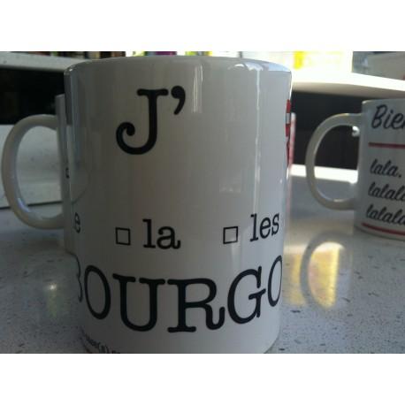 """MUGS """"J'AIME LE/LA/LES BOURGOGNE"""""""