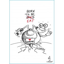 CARTE POSTALE BORN TO BE EAT