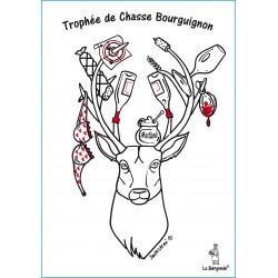 CARTE POSTALE TROPHEE DE CHASSE