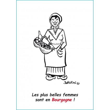 CARTE POSTALE LA BURGONDE