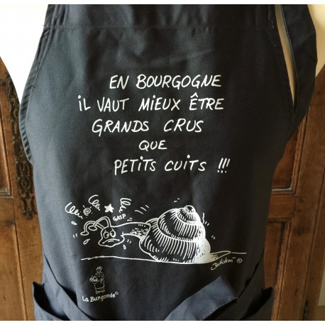 TABLIER ESCARGOT Grands Crus et Petits Cuits