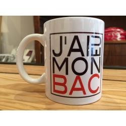 "MUGS ""J'AI EU MON BAC"""