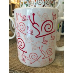 "MUGS ""ESCARGOT ROSE"""