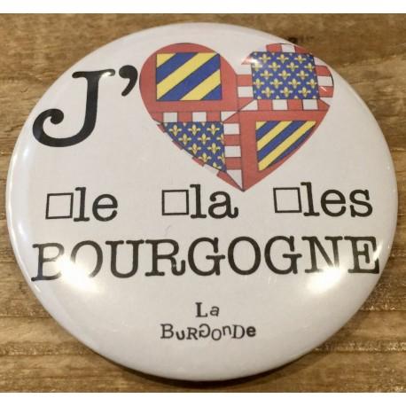 MAGNET J'AIME LE/LA//LES BOURGOGNE