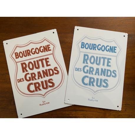 PLAQUE ALU Route des Grands Crus de Bourgogne 20 X 30 CM