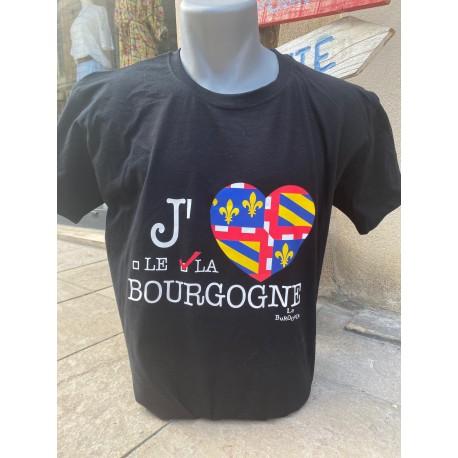 T SHIRT J'AIME LE/LA BOURGOGNE