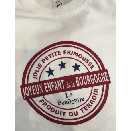 T SHIRT JOYEUX ENFANT DE LA BOURGOGNE